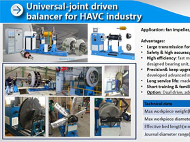 Universal joint driven balancer for HVAC industry