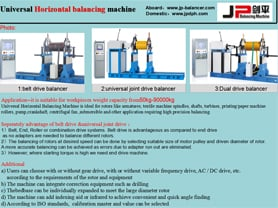 Horizontal balancing machines F