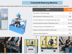 JP Crankshaft Balancing Machines